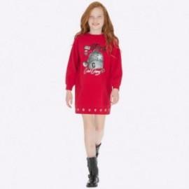 Sukienka bawełniana z nadrukiem dla dziewczynki Mayoral 7938-23