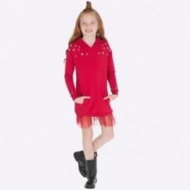 Sukienka sportowa z kapturem i tiulem dla dziewczynki Mayoral 7942-62