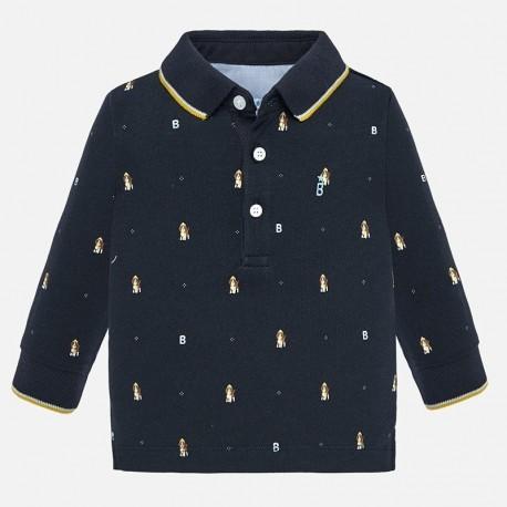 Koszulka polo z długim rękawem z z nadrukiem chłopięca Mayoral 2106-10
