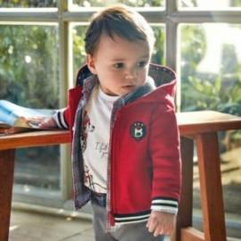 Bluza bawełniana z kapturem z aplikacjami dla chłopca Mayoral 2456-53