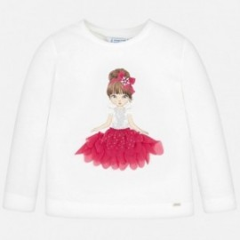 Koszulka z długim rękawem dla dziewczynki Mayoral 4008-43
