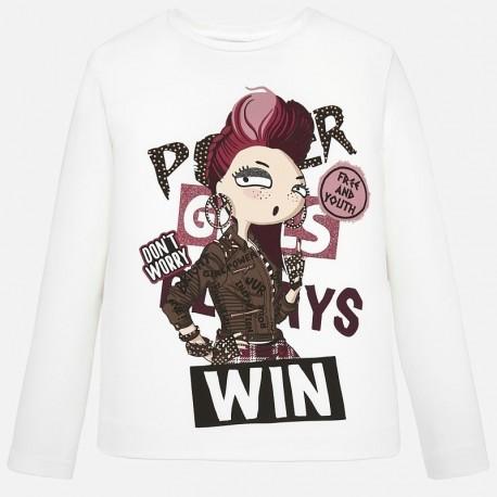 Koszulka z długim rękawem dla dziewczynki Mayoral 7016-34