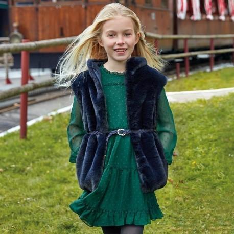 Sukienka z długim rękawem dla dziewczynki Mayoral 7937-57