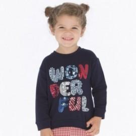 Bluza bawełniana sportowa dla dziewczynki Mayoral 4404-56
