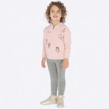 Dres sportowy bawełniany bluza i spodnie dla dziewczynki Mayoral 4801-92