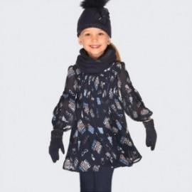 Sukienka z długim rękawem z nadrukiem dziewczęca Mayoral 4931-19