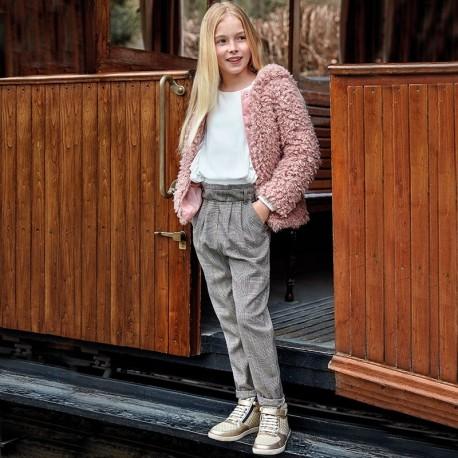 Spodnie długie w kratkę dla dziewczynki Mayoral 7502-14