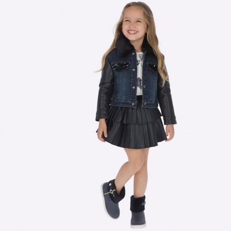 Spódnica plisowana z eko skóry dziewczęca Mayoral 4909-18