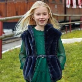 Kamizelka z futerka z paskiem dziewczęca Mayoral 7308-46