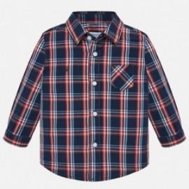 Koszula z długim rękawem w kratę chłopięca Mayoral 2112-10
