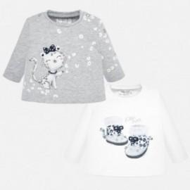Komplet 2 koszulki z długim rękawem dla dziewczynki Mayoral 2001-85