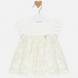 Sukienka tiulowa z haftem dla dziewczynki Mayoral 2819-63