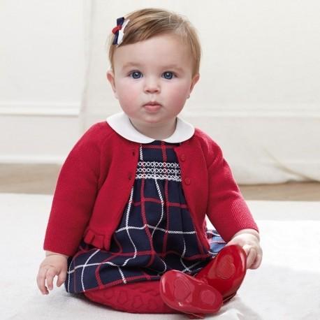 Sukienka w kratkę dla dziewczynki Mayoral 2826-36