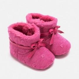 Botki trykotowe niemowlęce na rzep dla dziewczynki Mayoral 9218-30