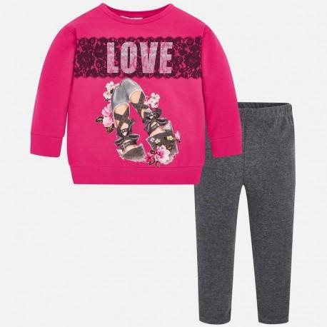 Komplet sportowy bluza i leginsy dla dziewczynki Mayoral 4710-87