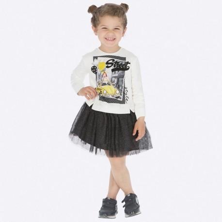 Sukienka codzienna spódnica tiulowa dziewczęca Mayoral 4945-25