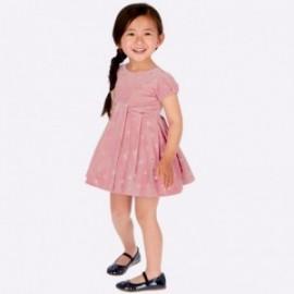 Aksamitna sukienka w groszki dziewczęca Mayoral 4915-93