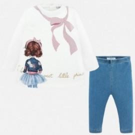 Komplet bluzka i leginsy dla dziewczynki Mayoral 2740-93 Różowy