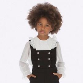 Bluzka elegancka z dżetami dla dziewczynki Mayoral 4103-36 Kremowy