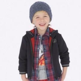 Bluza bawełniana sportowa z kapturem dla chłopca Mayoral 4456-96 Tytan