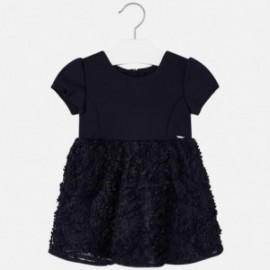 Sukienka z krótkim rękawem z efektem 3d dziewczęca Mayoral 4920-24 Granatowy