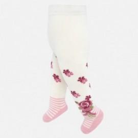 Rajstopy żakardowe bawełniane dla dziewczynki Mayoral 10630-10 Różowy