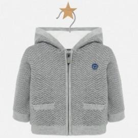 Sweter z kapturem na zamek chłopięcy Mayoral 2311-46 Ciemny szary