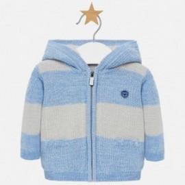 Sweter z kapturem na zamek chłopięcy Mayoral 2311-47 Azure