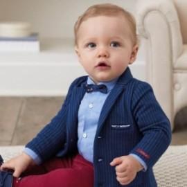 Marynarka bawełniana elegancka dla chłopca Mayoral 2414-59 Granat