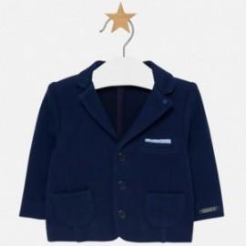 Marynarka bawełniana elegancka dla chłopca Mayoral 2414-58 Granatowy