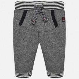 Spodnie długie bawełniane dla chłopca Mayoral 2520-92 Antracyt