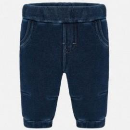 Spodnie długie eleganckie w paski dla chłopca Mayoral 2521-28 Denim