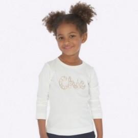 Koszulka z długim rękawem basic dla dziewczynki Mayoral 178-32 Kremowy