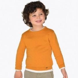 Sweter bawełniany gładki pod szyję dla chłopca Mayoral 323-67 Karmel