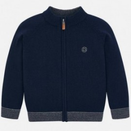 Sweter na stójce na zamek dla chłopca Mayoral 327-28 Granatowy