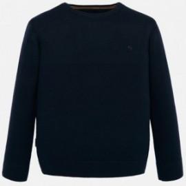 Sweter bawełniany gładki dla chłopca Mayoral 354-41 Granatowy