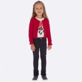 Spodnie z ciepłej bawełny dla dziewczynki Mayoral 511-10 Granatowy