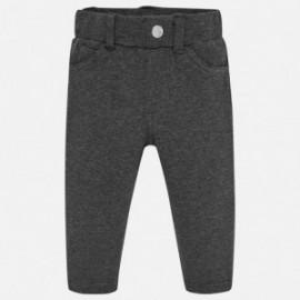 Spodnie z ciepłej bawełny dla dziewczynki Mayoral 560-38 Ołowiany