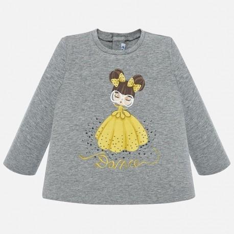Koszulka z długim rękawem dla dziewczynki Mayoral 2016-94 Srebrny