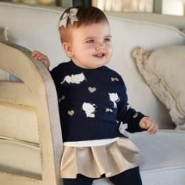 Sweter wkładany przez głowę dla dziewczynki Mayoral 2313-28 Granatowy
