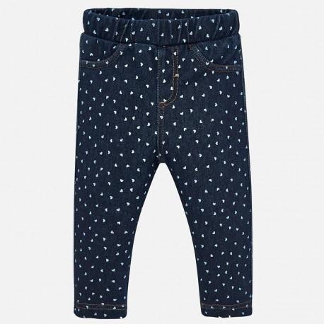 Spodnie długie dzianinowe denim dla dziewczynki Mayoral 2531-5 Jeans