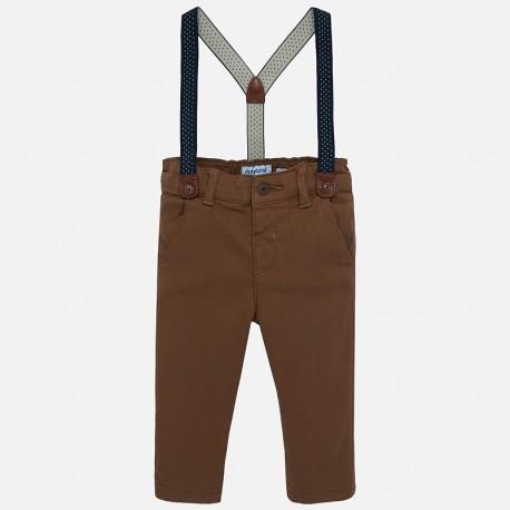 Spodnie chinos z szelkami chłopięce Mayoral 2532-78 Pardo