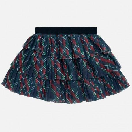 Spódnica tiulowa plisowana dla dziewczynki Mayoral 2901-11 Kratka