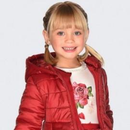 Koszulka z długim rękawem dla dziewczynki Mayoral 4006-68 Krem-czerwony