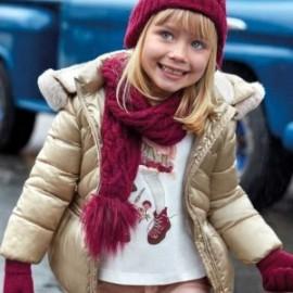 Koszulka z długim rękawem plisowany tył dla dziewczynki Mayoral 4011-26 krem-bordo