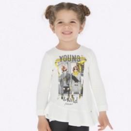 Koszulka z długim rękawem dla dziewczynki Mayoral 4015-36 Kremowy