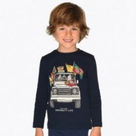 Koszulka z długim rękawem dla chłopca Mayoral 4026-21 Granatowy