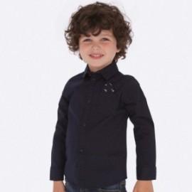 Koszula z długim rękawem w kropki dla chłopca Mayoral 4118-56 Granatowy