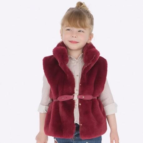 Kamizelka z futerkiem dla dziewczynki Mayoral 4307-77 Rubin