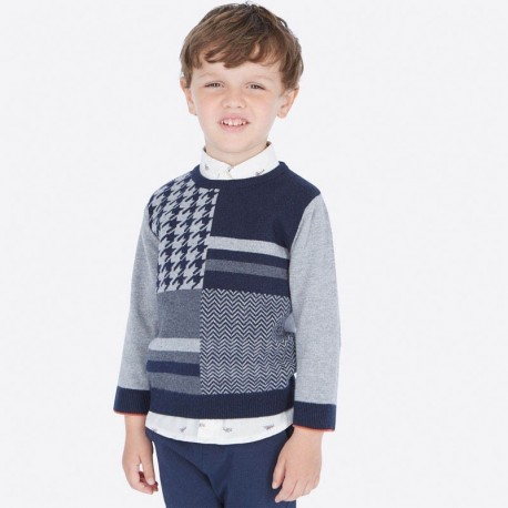 Sweter elegancki dla chłopca Mayoral 4309-79 Szary
